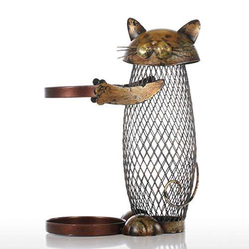 RMJAI Weinregal Metall Weinregal Halter Rack für sichere Aufbewahrung Netzwerk Eisenkunst Weinflasche Rack Cat-Stil 7.1x4.3x9.4 Zoll Weinflaschenhalter (Cat-wein-flaschen-halter)