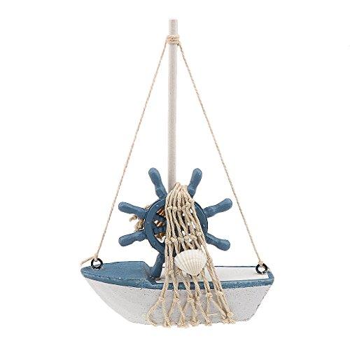 Generic Nautischen Segelboot Holz Segelschiff Tisch Dislpay Kind Geschenk Deko - Ruder