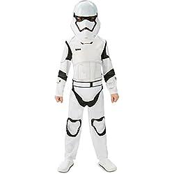 Star Wars Rubie's Disfraz de Storm Trooper para niños, color blanco/negro, talla 7-8 años (L)