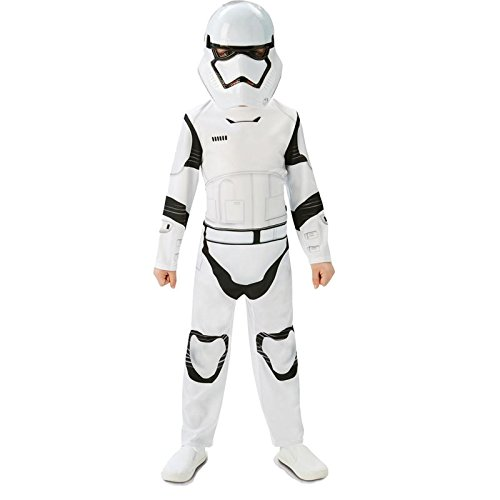 Rubie's 3620267 - EP7 Stormtrooper classic child, L, weiß/schwarz (7-8 - Star Wars Episode 7 Kostüm