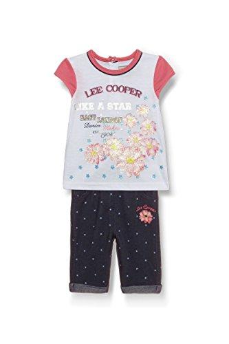 Lee Cooper - ensemble deux pièces tee shirt et pantacourt - bébé fille - blanc