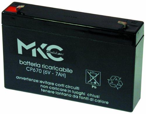 Melchioni Batterie au PloMB de 6 Volts 7 a