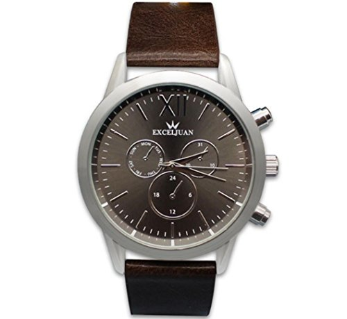 Montres pour hommes Gant Bracelet en cuir Silencieux en argent avec un design précis Design design confortable Belle