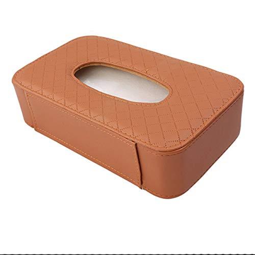 Fannty Luxus PU Leder Auto Visier Tissue Holder Mount, Multi-Use-Papierhandtuch Slim Cover Case, hängende Tissue Holder Case Kompatibel für Auto Rücksitz, schwarz (Slim-tissue-box)