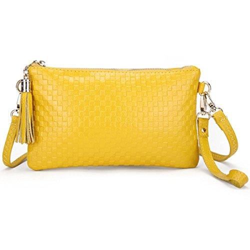 Telefono Pacchetto Borsa Tracolla MEI Ms. Messenger Bag,Black yellow