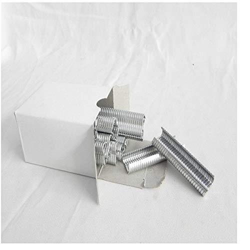 Ocamo Schweißreparatur-Handwerkzeug 1 StüCk Ring Zange Mit 600 StüCk M-Clip Zum HäHnchen Hase Haustier KäFig Siegel Tasche Heftklammern Mesh KäFig Draht Fechten Werkzeuge 2# (1200 M Nägel)