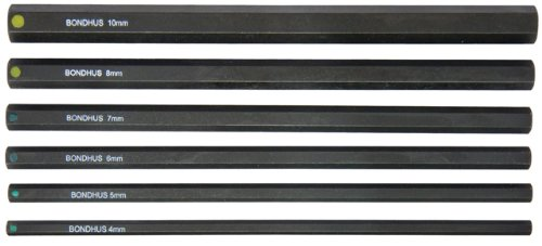 Bondhus 336464-10mm 6ProHold Sockel Bits ohne Sockets, Set von 6