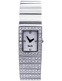 D&G Dolce&Gabbana Damen-Armbanduhr SCOTLAND SLV STONES DIAL HALF STONES BRC DW0330