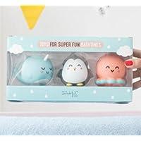 Juguetes para el baño Mr. Wonderful con formas- narval, pingüino y pulpo