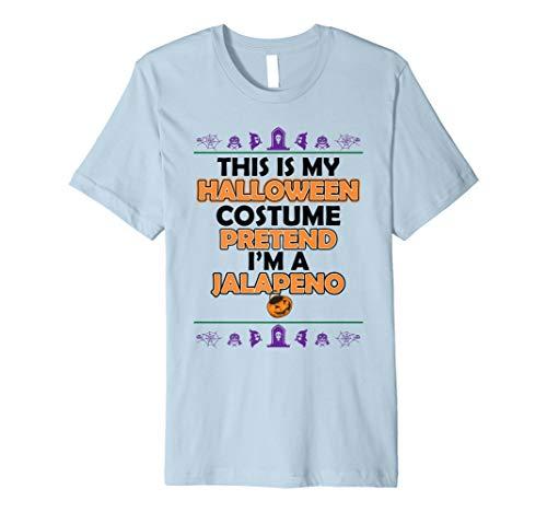 Dieses ist mein Halloween-Kostüm, das ich ein Jalapeno-Hemd