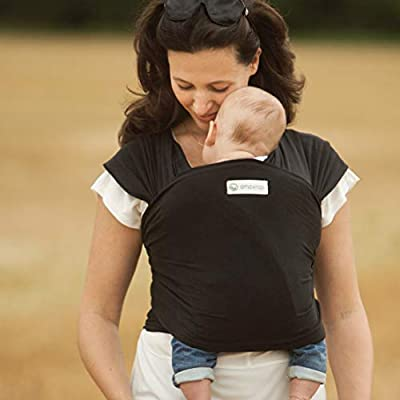 AmaWrap Stretchy Baby Wrap Sling / Carrier -Various Colours (B - currently showing Black)  BABYBJÖRN