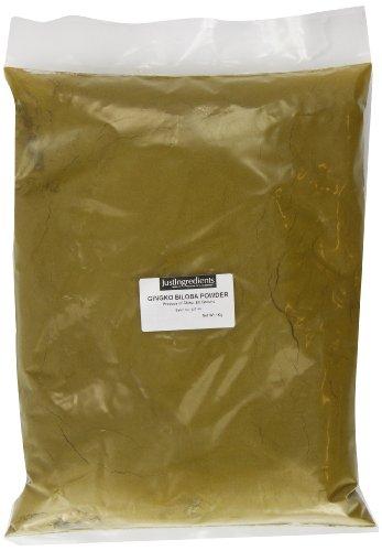 JustIngredients Ginkgo Biloba-Pulver, Ginkgo Biloba Powder (Maidenhair), 1er Pack (1 x 1 kg)