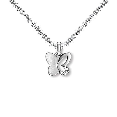 Kinder Kette Silber 925 Schmetterling-Kette Mädchen Schmuck Kinder Ketten Mädchen Echt Kette mit Schmetterling Silber Anhänger für Kinder Halskette Geschenke für Mädchen Geschenkideen FF482