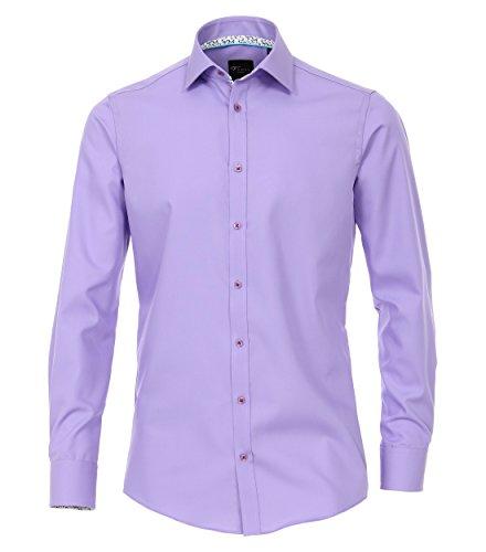 Michaelax-Fashion-Trade Camicia Classiche - Basic - Classico - Maniche Lunghe - Uomo Lila (901)