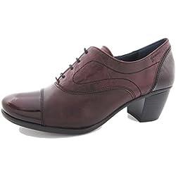 Zapatos cordones mujer Dorking-Fluchos - 6884 - 65 (40, Burdeos)