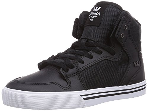 Supra Vaider, Baskets mode garçon Noir (Black/White)