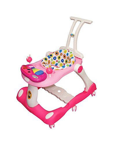 Ehomekart Kids 3 in 1 Musical Activity Baby Walker cum Runner with Removable Musical Tray, Multi-Colour