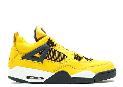 Foto de Nike Air Jordan 4 Retro LS Lightning 2006 - Tour Yellow/Drk Blue-Gry-White Size 40.5 EUR