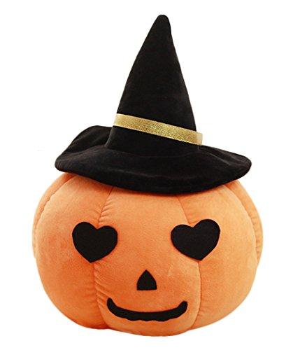 Kürbis Kissen, Outgeek Wurfkissen Spielzeug Lustiges gefülltes Kürbis Plüsch Spielzeug für Halloween Zuhause Dekor (Wurfkissen Orange)