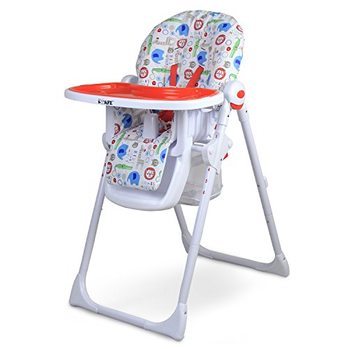 iSafe MAMA Highchair – Serengetti Recline Compact Padded Baby High Low Chair Complete With Double Tray & Storage Basket 41DFlzRv62L