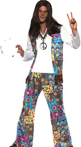 Fancy Ole - Herren Männer Hippie Outfit, L, Bunt