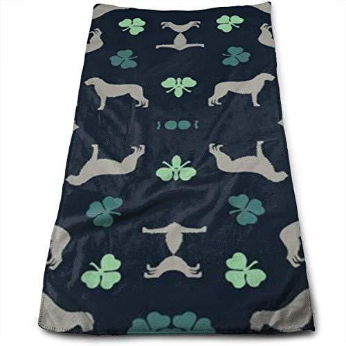 YOWAKi Irish Wolfhounds Personality Washcloth Towels Polyester Microfiber Absorbent Soft Comfortable Towel for Hotel Spa Salon Gym Bathroom Sport,Towel 12
