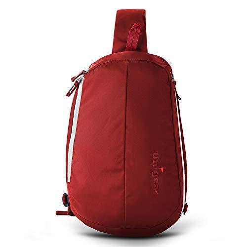 Unigear zaino monospalla, zaino spalla borsa a tracolla crossbody leggera multifunzionale da uomo donna adolescente (rosso)