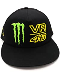 Valentino Rossi Monster Energy VR46Trucker Flat Peak Cap officiel nouveau