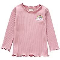 Logobeing Camisetas de Manga Larga Para Bebé Niña Niño Gancho Jerseys Blusas Tops Sudadera (Rosado, 104)