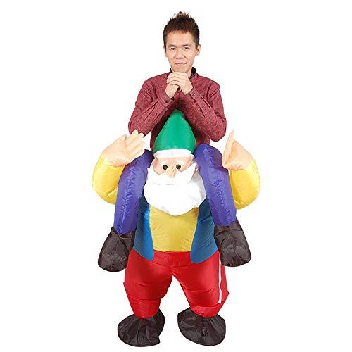 MIMI KING Aufblasbares Reiten Santa Claus Kostüme, Lustiges -
