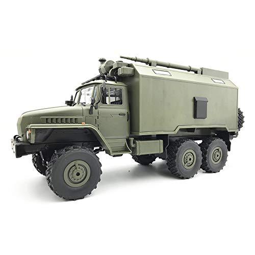 Transer WPL B36 Ural 1/16 RTR 2.4G 6WD RC Auto Elektro-Off-Road-Militär-LKW-Auto Crawler Für Kinder und Erwachsene Anfänger - 15 Rc Auto 1 Scale