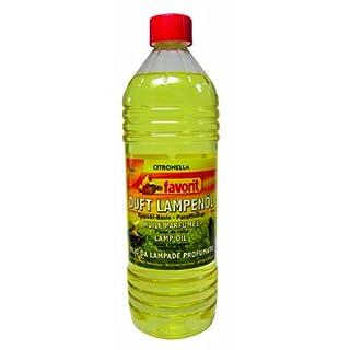 favorit 2100C Bio-Duftlampenöl auf Rapsölbasis mit Wirkstoff Citronella zur Mückenabwehr, 1 Liter Flasche
