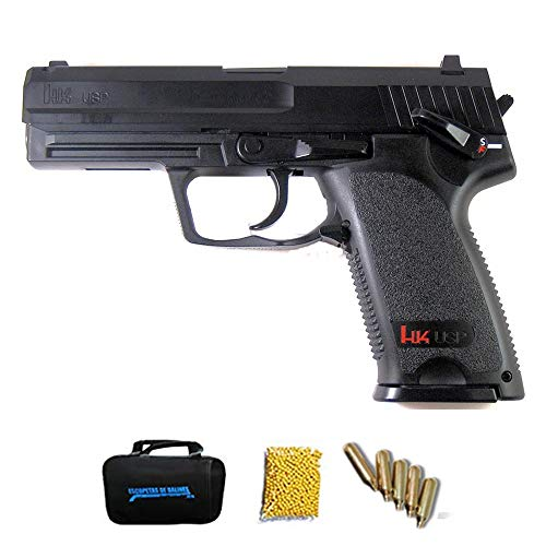 UMAREX HK USP M12 | Pistola de Airsoft Calibre 6mm (Arma Aire Suave de Bolas de plástico o PVC). Sistema: CO2. 1.8 Julios.