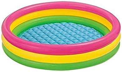 NT Inflatable Water Pool 4 Ft Diameter for Kids for Fun Activities - Multi Color