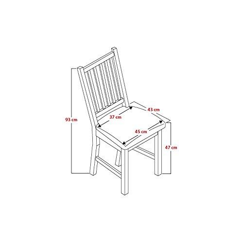 2x stuhl lucca birke massiv in nussbaum gebeizt gastrodirekt. Black Bedroom Furniture Sets. Home Design Ideas