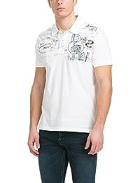 Desigual Herren-Poloshirt Modell INDI-GO Blanco, 51L17B4 /1000