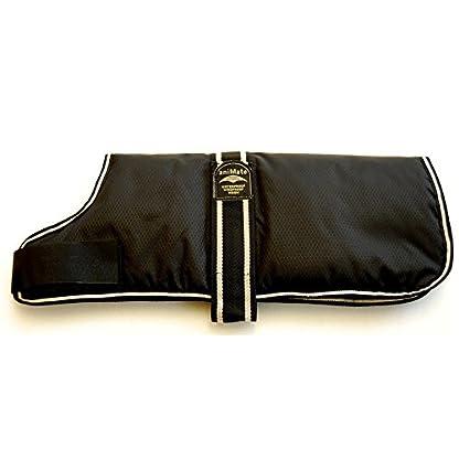 Animate Padded Waterproof Dog Coat, 12-inch, Black 1