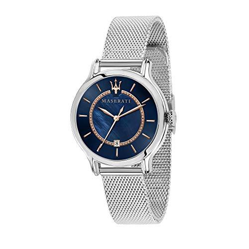 Maserati Reloj Analógico para Mujer de Cuarzo con Correa en Acero Inoxidable R8853118507