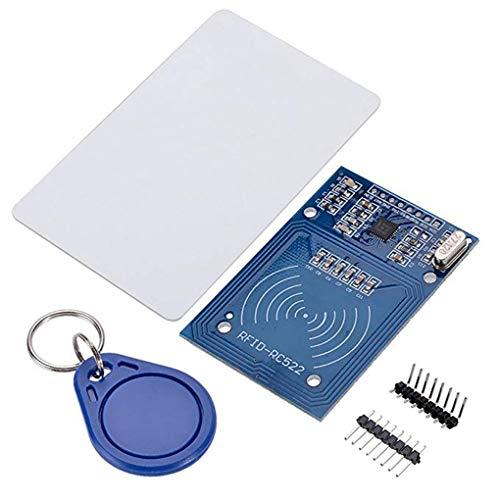 Bobury MFRC-522 RFID Kit RF IC Card Module capteur S50 Carte Vierge Porte-clés Compatible pour Arduino Raspberry Pi
