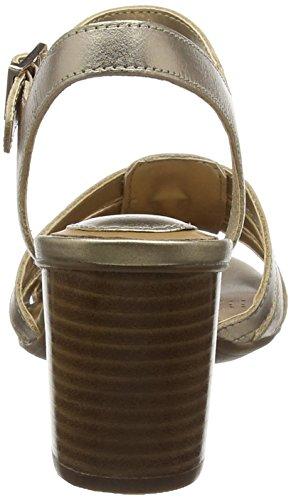 Clarks Ralene Zuri, Sandales Bride cheville femme Or (Gold Leather)
