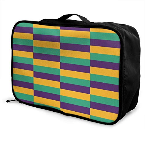 asche sghshsgh Mardi Gras Jester Travel Duffel Bag Attach to Suitcase Handle Lightweight Business Bags Nylon Luggage Duffel Bag Gym Holiday Overnight Carry On Bag Tote Luggage Bag ()