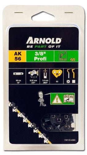 Arnold 1191-X3-6360 Sägekette 3/8 Zoll Profi, 1.6 mm, 60 Treibglieder, 40 cm Schwert (Stihl Kettensäge Kette 026)
