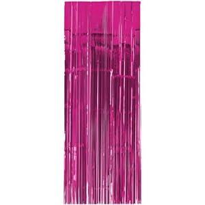 Amscan International-24200-103-91cm x 2,43m color rosa brillante cortina para puerta
