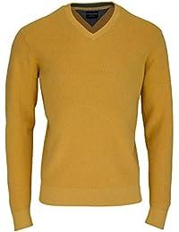 CASAMODA Pullover V-Ausschnitt extra langer Arm sonnengelb AL 72