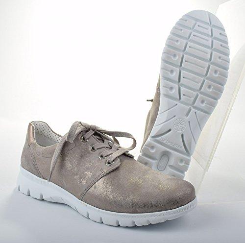 Ara 12-30028 New York donna scarpe larghezza G per solette sciolti chiara/Platin