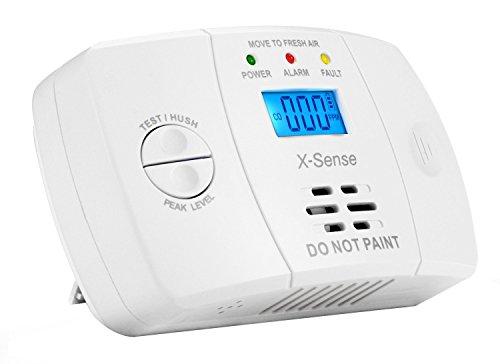 X-Sense Kohlenmonoxidmelder CO Melder Carbon Monoxide CO Detector mit Digitaler Anzeige, Batteriebetrieben, CO03M