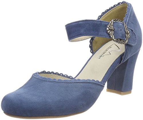Andrea Conti Hirschkogel by Damen 3005715 Pumps, Blau (Jeans), 37 EU