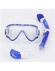 Niños Niños gafas de buceo tubo de respiración equipo de buceo todo seco, anti-niebla buceo gafas , l