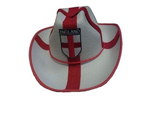 English St Georges Day Euro World Cup 2014Fußball Fancy Kleid Zubehör Gr. Einheitsgröße,  - England Unisex Cowboy (George's St Day Kostüme)