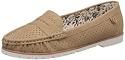 CL by Carlton London Womens Pelagia Beige Loafers and Moccasins - 6 UK/India (39 EU)